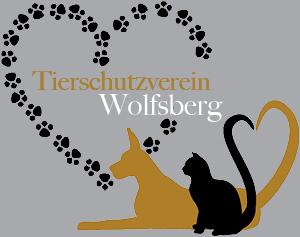 Das Bild enthält eine gezeichnete Katze sowie einen gezeichneten Hund und stellt das Logo vom Tierschutzverein Wolfsberg dar!
